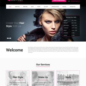 hair cut website design