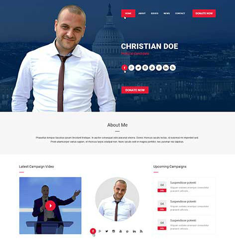 political candidate website