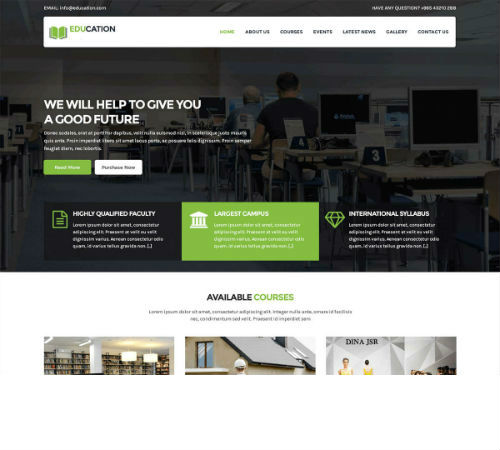 education website development