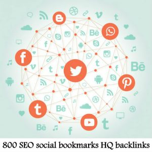 800 SEO social bookmarks high quality backlinks